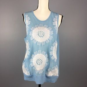 J. CREW COLLECTION | embroidered floral tank L new